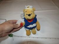 "Disney 8"" Nautical Pooh Bean Bag Beanie Winnie Sailor Suit Sail Boat Bear mini"