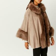 Coast Bostock Faux Fur Cape, Neutrals - One Size (Brand New With Tag)