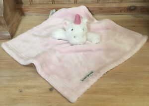 Blankets and Beyond Pink Unicorn Plush Soft Cuddly Comforter Toy Blankie Blanket
