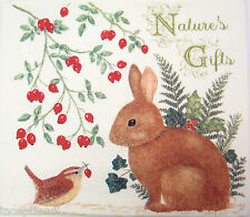 Alice's Cottage Cotton Flour Sack Kitchen Towel Nature's Gifts Bunny - NEW