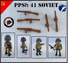 1x PPSh 41 SUBFUSIL RUSO 2 GUERRA MUNDIAL WORLD WAR GUN ARMA SOLDADO PLAYMOBIL