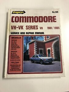 Commodore VH-VK Series V8 Service And Repair Manual 1981/1985