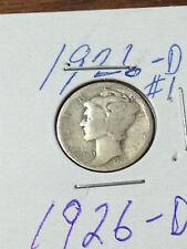 MERCURY DIME #1  1926 D 90% SILVER