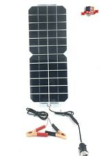 5W 12V/5V DC Waterproof Battery Solar Panel USB Home Phone RV Car Boat Charger