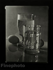 1952/78 JOSEF SUDEK Vintage Czech Photo Gravure BEVERAGE EGG Food Still Life Art