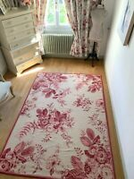Laura Ashley RUG wool mix KATIE shabby chic CABBAGES ROSES area CARPET **RARE**