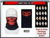 RED Skull Biker Cycling Balaclava Neck Tube Scarf Snood Face Mask Bandana