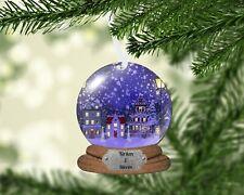Snow Globe Village Christmas Ornament, Personalized, Name Ornament, Snowglobe