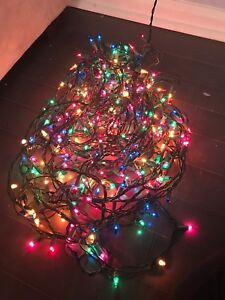 Lot Of 4 Strands Multi Colored Xmas Tree Lights