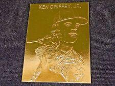 Ken Griffey, Jr. ~ 22k Gold Foil Baseball Card, 1996, Plastic Holder, w/Serial#