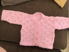HAND KNITTED BABY CARDIGAN (PINK)