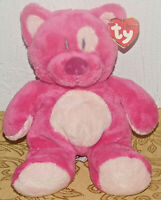TY Classic Kitty Cat BLUESY Hot Pink Plush Stuffed Floppy TOY Lovey New Tags