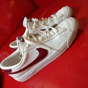 Nike Blazer US7/UK6/EU40 Low Premium Leather Trainers  Red and White