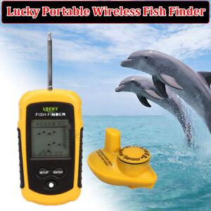 Lucky 40M Fishfinder Wireless Floating Sonar Sensor Water Resistant Sea Fishing!