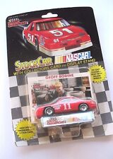 LIONEL NASCAR RACING GEOFF BODINE 11 STOCK CAR COLLECTORS CARD & DISPLAY STAND