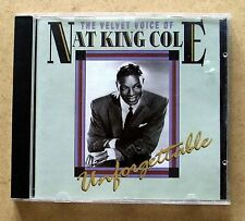 Nat King Cole - The Velvet Voice Of, Unforgettable, CD