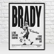 Tom Brady black and white Poster , New England Patriots Poster