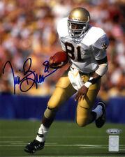 Tim Brown signed Notre Dame 8X10 Photo (blue sig)- Tri-Star/Brown Holos