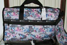 LeSportsac Large Weekender Camo Signature Candace Classic Travel Tote Bag NWT