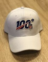NFL 100th Season Cap Hat 2019 Patch Style Adjustable White 100 Anniversary