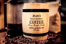 Coffee barrel Canister -FREE engraving -GREAT GIFT FOR COFFEE LOVERS