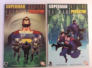 Superman and Batman vs Aliens and Predator Dark Horse  DC Full Run Unread books