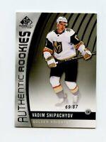 17/18 SP GAME-USED SPGU ROOKIE RC #95 VADIM SHIPACHYOV 69/87 GOLDEN KNIGHTS