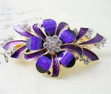 60MM crystal resin Flower hair barrette clip Hairpin  SF312