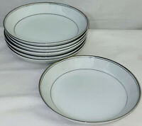 "7 Imperial China *DALTON SINCERITY*WHITE & PLATINUM* 7 1/2"" COUPE SOUP BOWLS"