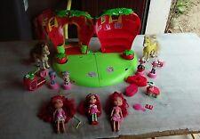 maison charlotte aux fraises+3 charlotte+2 chevaux+meubles-accessoires etc..