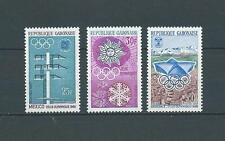 GABON - 1967 YT 212 à 214 - TIMBRES NEUFS** LUXE