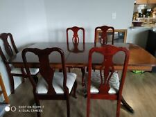 Antique Dining Room Table and 5 Queen Anne chairs