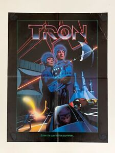 TRON Movie Promotional Fold-Out Poster 1982