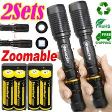 High 350000 Lumens Tactical Police 5 Modes 18650 T6 LED Flashlight Aluminum Zoom