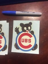 Chicago Cubs Decals From 1970s Lot Of 5