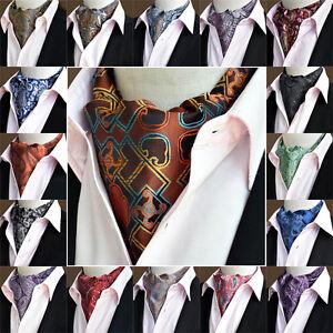 Herren Männer Paisley Flower Krawatte breite Krawatten Tupfen Ascot Schal