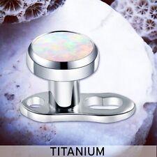 CELESTIAL TITANIUM Opal Dermal Piercings Micro Dermal Dermal Top Base Anchor UK