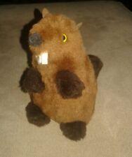"Handcrafted Beaver Plush Stuffed Animal 6"" by Pauline's Original 1974"