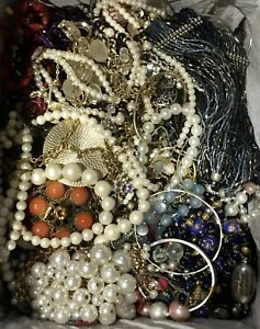 Mixed Jewelry Crafters Lot Mismatched Broken Crafts Repair ~ Over 15lbs ~ (Box7)