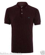 Authentic Vivienne Westwood VW MAN Burgundy Striped Classic Orb Polo Shirt L