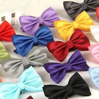 Classic Checked Bow Tie Men Adjustable Tuxedo Bowtie Wedding Ties Necktie Hot