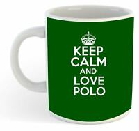 Keep Calm And Love Polo  Mug - Green