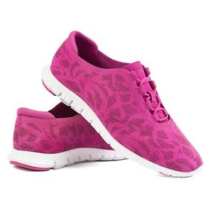 Cole Haan Women's 10 B Zerogrand Perforated Trainers Fuschia Pink Shoes W03207