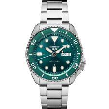 New Seiko 5 Automatic Green Dial Steel Bracelet Men's Watch SRPD61