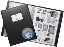 4 x A4 Flexicover Black Display Book Presentation Folders Portfolios - 40 pkt