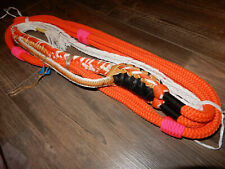 Bull rope Orange & White - Custom Pro 9/7 Rh - Ept Bull Ropes Bull riding rodeo