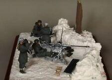 Resina 1:35 1/35 II Guerra Mundial Alemán SS Redondo Para 2 Cm Flak 38 Figuras Modelo Kit