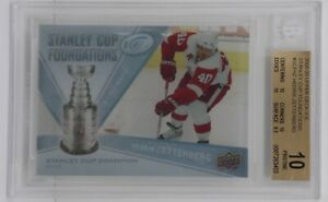 2008-09 Upper Deck Ice Stanley Cup Foundations Henrik Zetterberg 🔥 Beckett 10