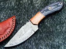 "Custom Handmade Damascus Steel Blade 8.0"" Hard  WOOD - Hunting Knife TM-9417"