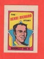 1971-72 O-Pee-Chee OPC  # 6 Henri Richard  Booklet  nrmnt+
